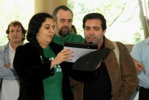 Leitura da carta pelo cumprimento do Código Florestal no Viva a Mata 2013