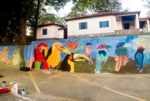grafite no muro