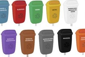 cores lixeiras reciclagem