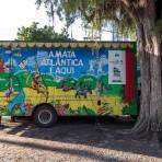 """Novo caminhão do projeto """"A Mata Atlântica é Aqui"""".  Foto: Capim Filmes / SOS Mata Atlântica"""