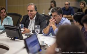 O encontro teve ainda a presença do governador do Rio de Janeiro, Luiz Fernando Pezão.