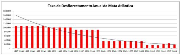grafico desflorestamento