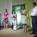 Com a fala, Juliana Nunes, vice presidente de Sustentabilidade da Brasil Kirin. Foto: William Lucas-Inovafoto/SOS Mata Atlântica