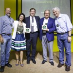 Ricardo Alahmar, Bradesco Seguros, Vilma Santana e Daniel Fonseca, área de Parcerias do Bradesco Cartões, com Roberto Klabin e Pedro Passos.