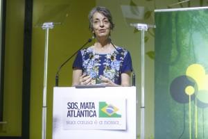 Secretária de Estado de Meio Ambiente em exercício, Cristina Maria do Amaral Azevedo. Foto: William Lucas-Inovafoto/SOS Mata Atlântica