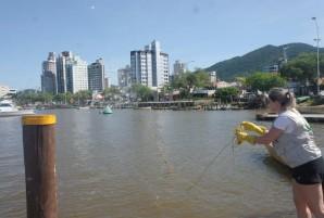 monitoramento da água rio cidadeitajai