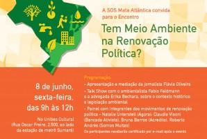 Programação e convite para evento de política e meio ambiente