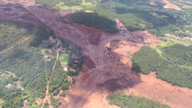 Lama de barragem rompida em Brumadinho (crédito: Corpo de Bombeiros de MG)